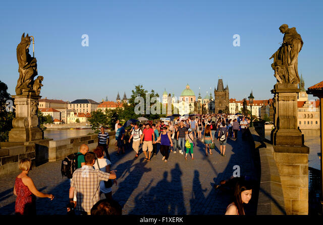 Charles Bridge, Prague, Czech Republic, Europe - Stock Image