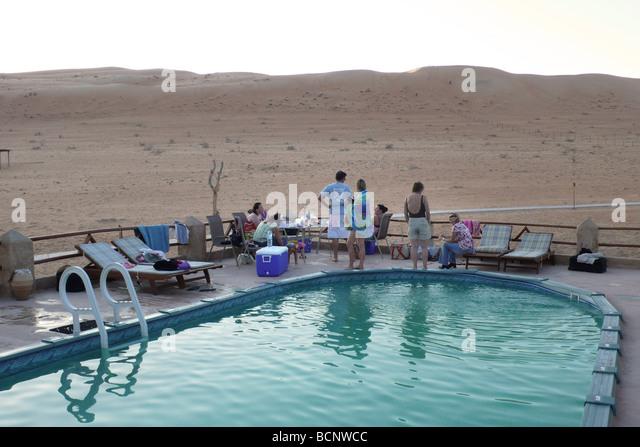 oman wahiba desert one thousand night resort - Stock Image