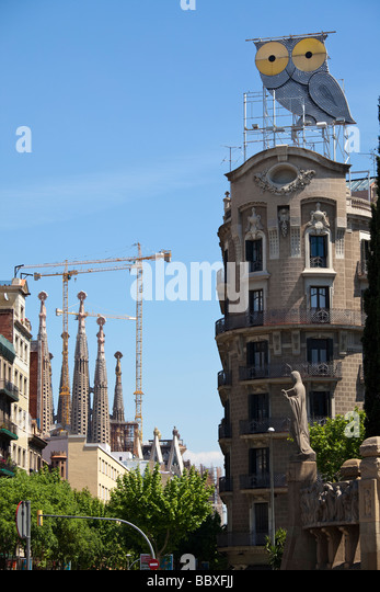 La Sagrada Familia, Barcelona, Spain - Stock Image