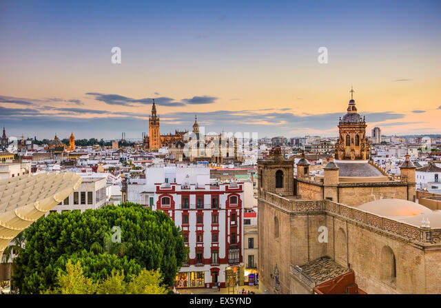 Seville, Spain old town skyline. - Stock-Bilder