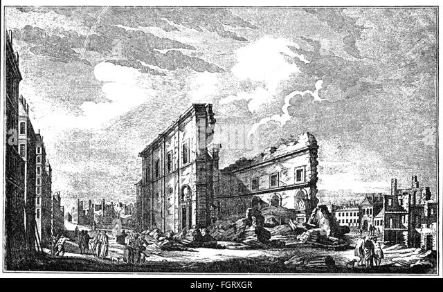 Lisbon earthquake, destroyed church Sao Paolo, 1755 - Stock Image