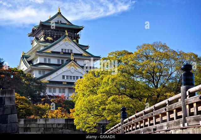 Japan, Honshu island, Kansai, Osaka, Osaka castle. - Stock Image