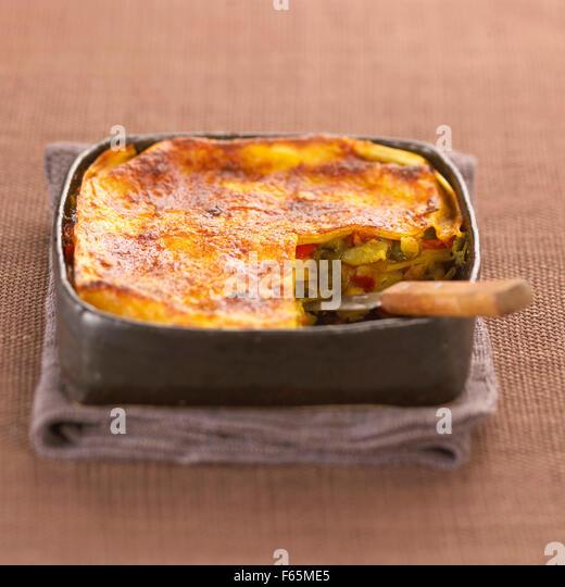 vegetable lasagna bake (topic: bakes) - Stock Image