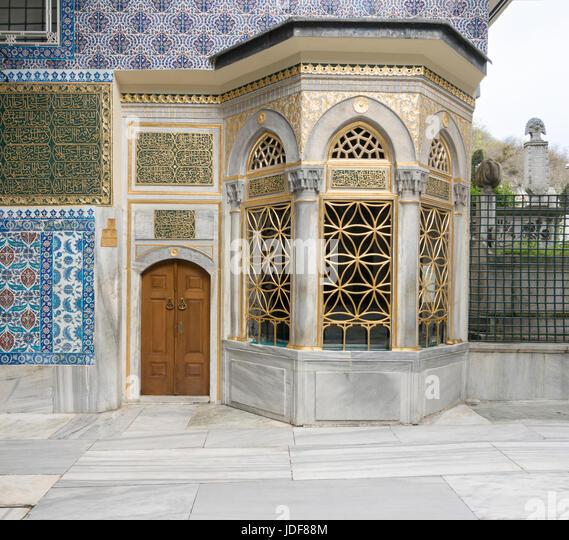 Exterior view of the shrine of Hazrat Abu Ayub Ansari, Eyup Sultan Mosque - Stock Image