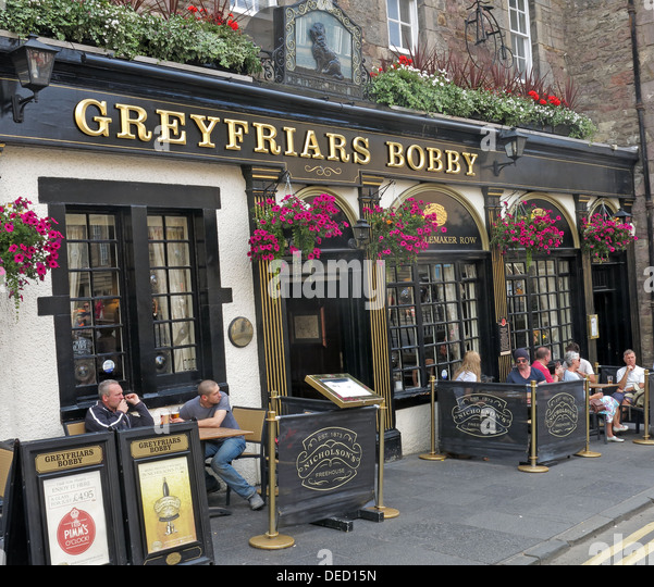 Greyfriars Bobby bar exterior Edinburgh Capital City, Scotland UK - Stock Image