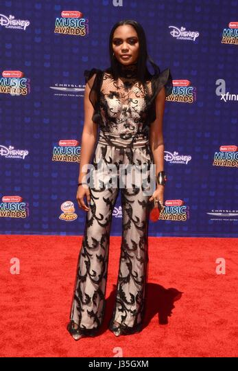 China Anne McClain at arrivals for Radio Disney Music Awards - ARRIVALS, Microsoft Theater, Los Angeles, CA April - Stock-Bilder