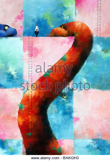 Large Red Snake - Stock-Bilder
