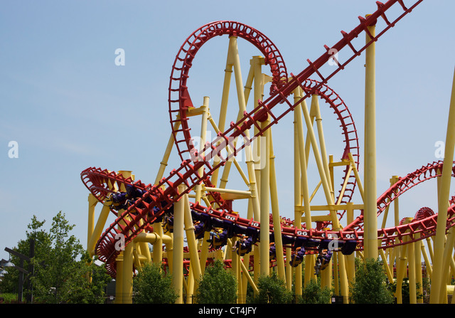 Corkscrew Roller Coaster Stock Photos Amp Corkscrew Roller