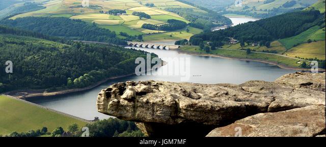 Bamford Edge, Derwent valley. U.K. - Stock Image