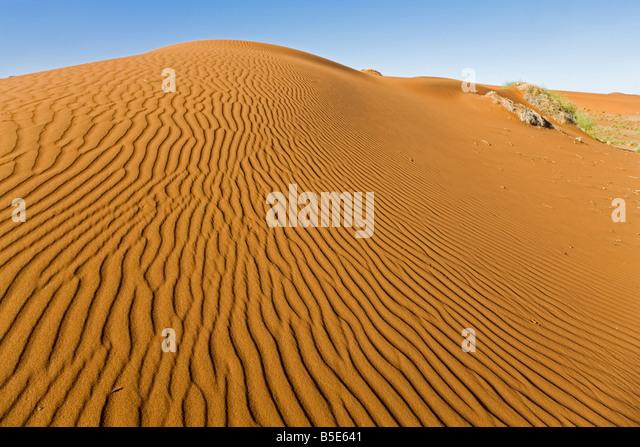 Africa, Namibia, Namib Desert, Sand dune - Stock Image