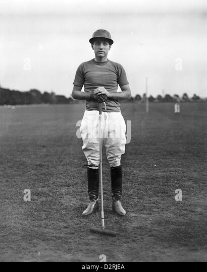 Eldridge T. Gerry favored to win the National Polo Open Championship, 1934 - Stock Image