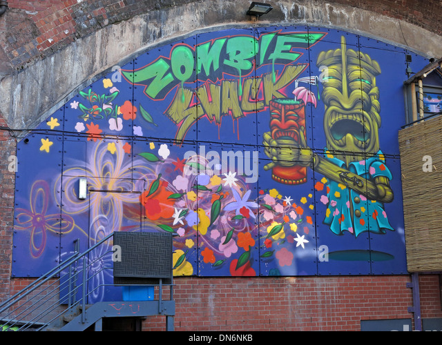 Zombie Shack Graffiti Oxford Road Manchester - Stock Image