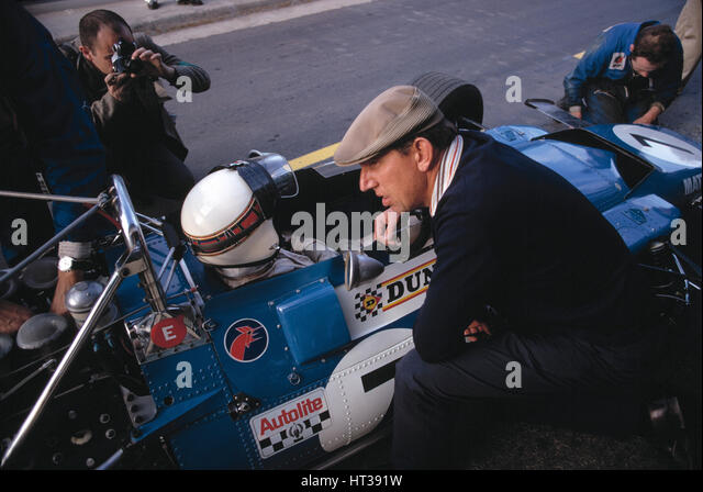 MATRA F1 Jackie Stewart, Ken Tyrrell. Artist: Unknown. - Stock Image
