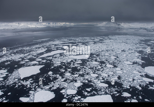 Glaciers in East Greenland - Stock Image