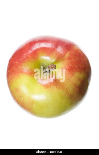 An apple on white background - Stock Image
