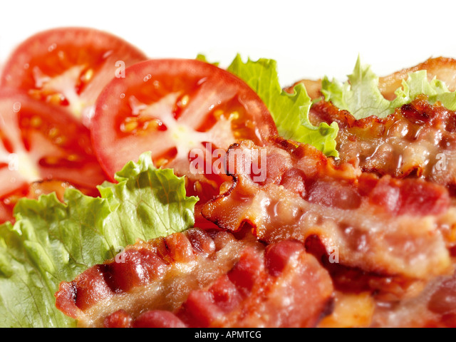 Bacon, lettuce and tomato. - Stock Image