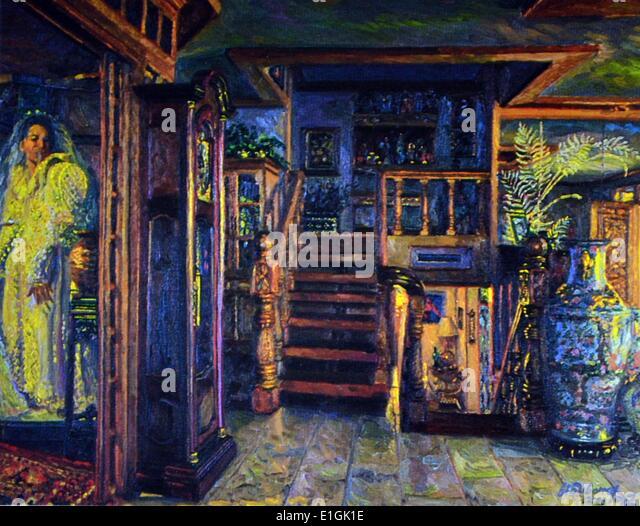 Gamaliel Subang, Interior 1992. Oil on canvas - Stock Image
