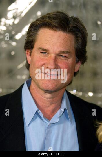 (dpa) - Hollywood actor Kurt Russell smiles ahead of the premiere of his new film 'Dark Blue' in Los Angeles, - Stock Image