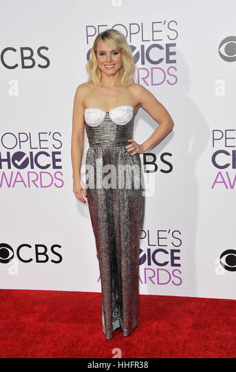 Los Angeles, California, USA. 18th January 2017. Kristen Bell at the People's Choice Awards 2017 held at the - Stock Image