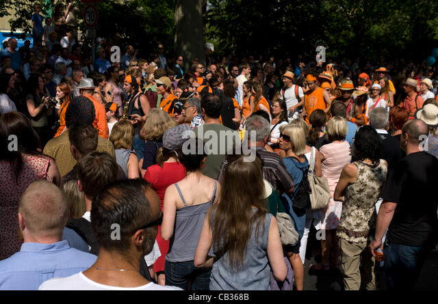 BERLIN - MAY 27: The Traditional and the annual 'Carnival of Cultures', May 27, 2012 in Berlin, Germany - Stock-Bilder