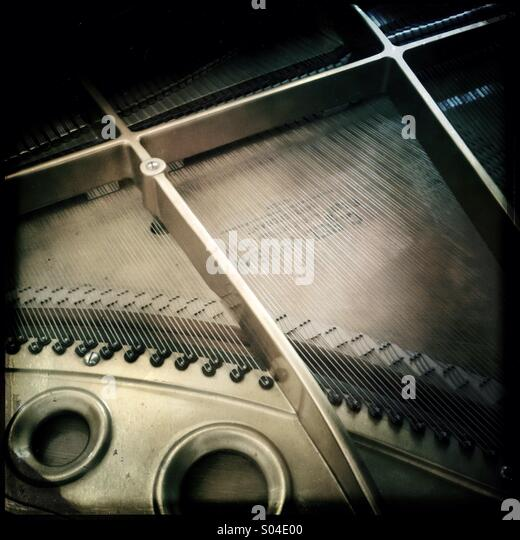 Piano detail - Stock Image