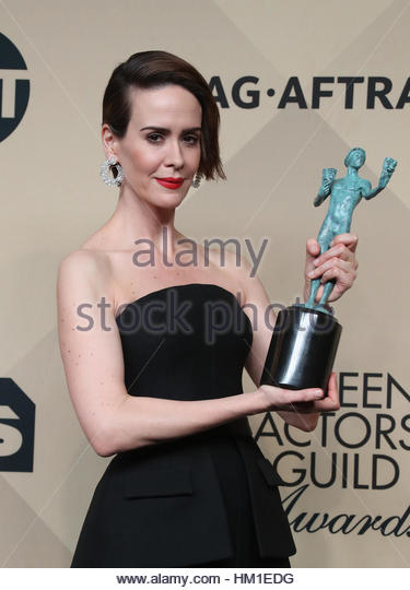 Los Angeles CA - JANUARY 29 Sarah Paulson, At 23rd Annual Screen Actors Guild Awards - Press Room, At Shrine Auditorium - Stock-Bilder