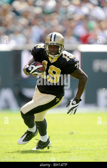 Devery Henderson #19 of the New Orleans Saints - Stock Image