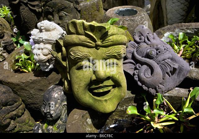 Indonesia, Ubud, Bali, Garden statue - Stock Image