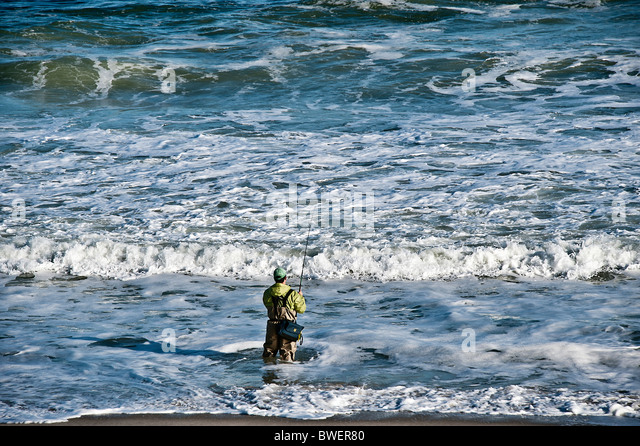 Surf fishing rod stock photos surf fishing rod stock for Surf fishing nj