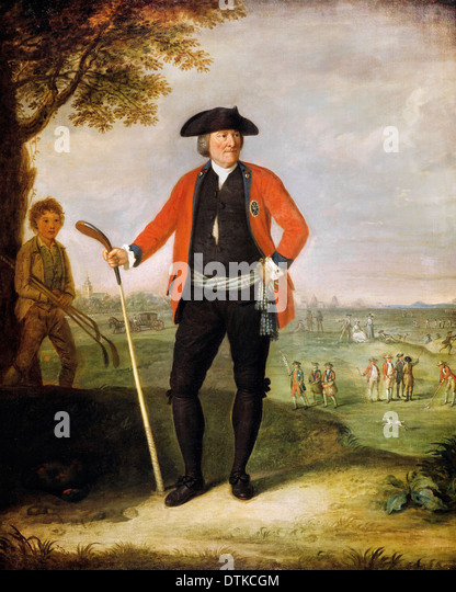 David Allan, William Inglis, Surgeon and Captain of the Honourable Company of Edinburgh Golfers. 1787 Oil on canvas. - Stock Image
