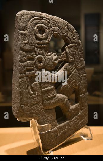 Mesoamerican ballgame ceremonial Palma from the Totonac culture in Veracruz, Mexico. - Stock Image