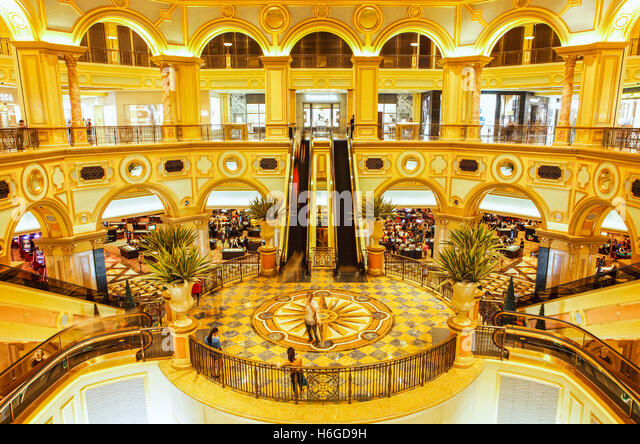 The Great Hall of the Venetian Hotel and Casino, Cotai, Macao. - Stock Image