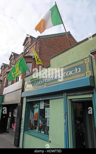 Belfast Falls Rd Republican Sinn Fein Souvenir Shop - Stock Image
