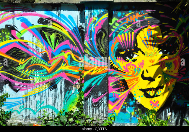 daub graffiti grafitti - Stock Image