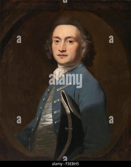 Sir Joshua Reynolds - An Unknown Man - Stock Image