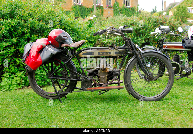 A Douglas vintage motorcycle - Stock Image