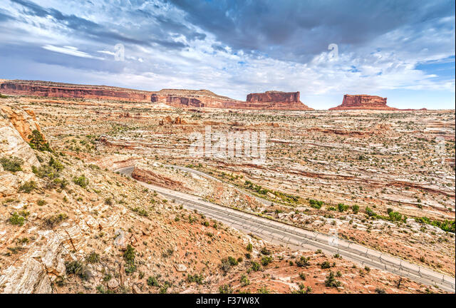 Stormy sky over Canyonlands National Park, Island in the Sky district, Utah, USA. - Stock Image