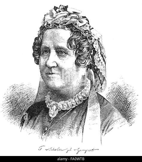 Thekla Charlotte von Gumpert, Thekla von Schober; 1810-1897, a German children's and youth writer, - Stock-Bilder