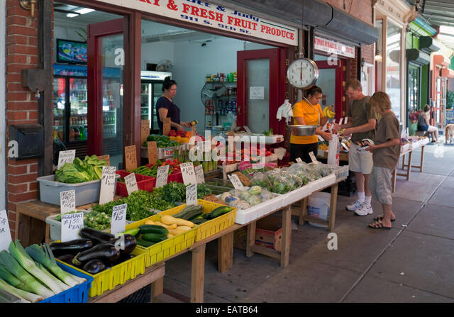 The Italian Market - 9th Street, Philadelphia, PA - Stock Image