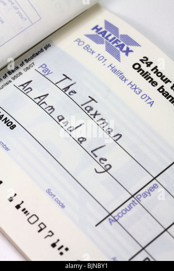 writing a cheque to hmrc