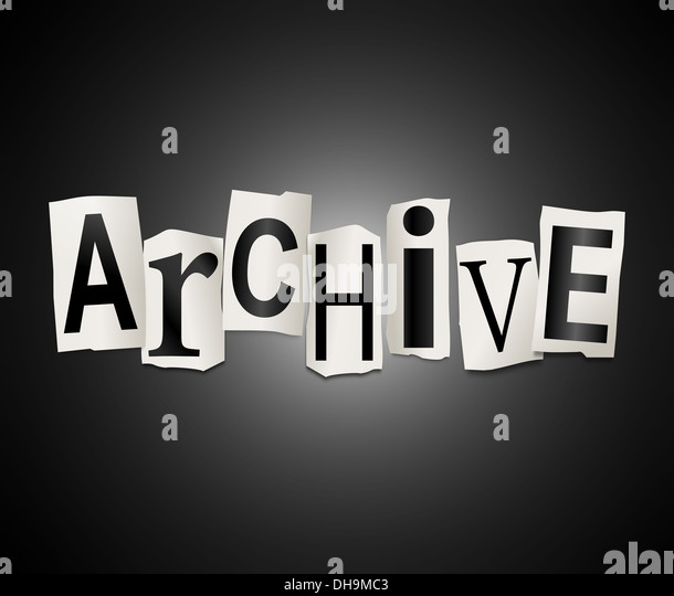Archive concept. - Stock Image