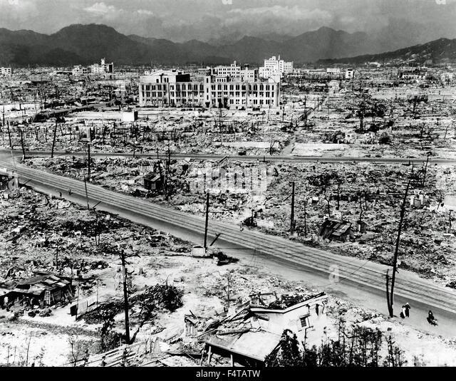 Atomic Bomb 1945 Hiroshima - Stock Image