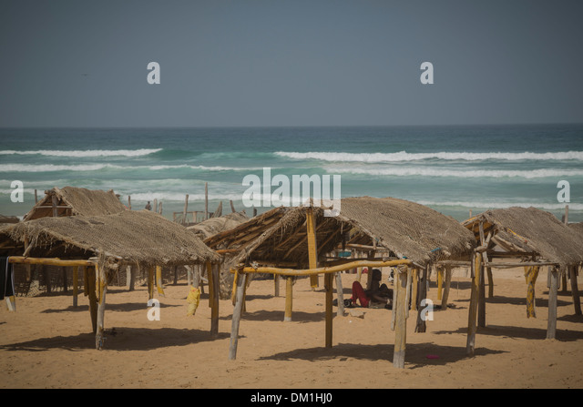 Yaf beach - Dakar, Senegal - Stock Image