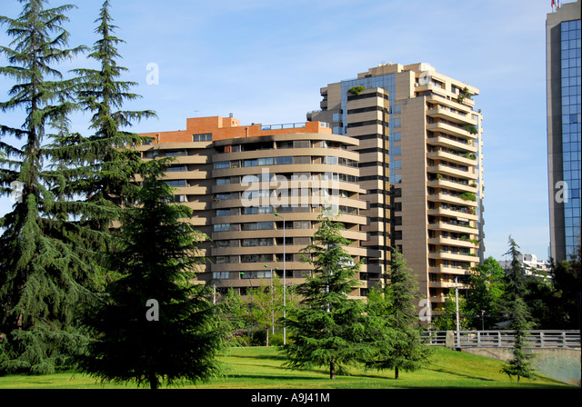 Santiago Chile apartment building - Stock Image