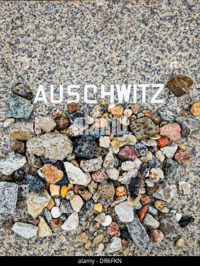 Auschwitz Memorial in Berlin, Germany at Weissensee Cemetery. - Stock Image