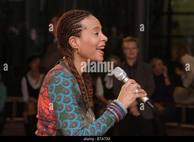 The soul and jazz singer Jocelyn B. Smith, Berlin, Germany, Europe - Stock-Bilder