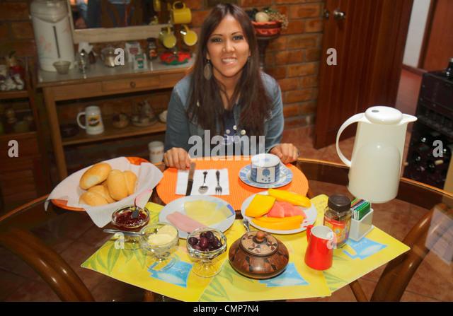 Lima Peru Barranco District Avenida Pedro D'Osma D'Osma Bed & and Breakfast hotel budget lodging Hispanic - Stock Image