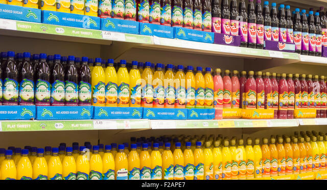 Robinson Squash juice drinks in supermarket. UK - Stock Image