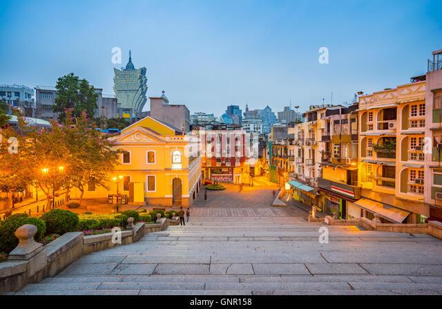 Cityscape view of Macau, China . - Stock Image