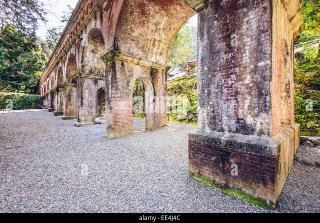 Aqueduct of Nanzenji Temle in Kyoto, Japan. - Stock-Bilder